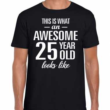 Awesome year / jaar cadeau t shirt zwart heren