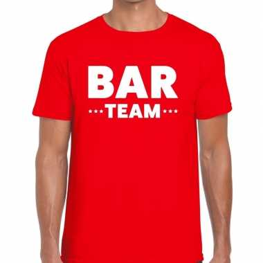 Bar team / personeel tekst t shirt rood heren