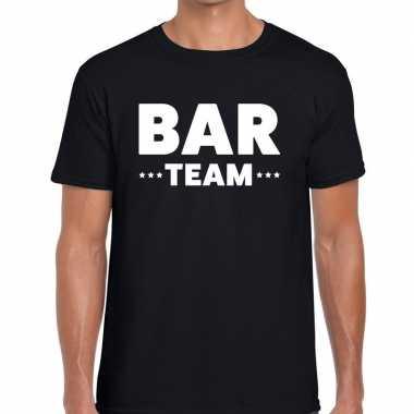 Bar team / personeel tekst t shirt zwart heren