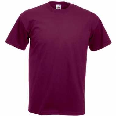Basic bordeaux rood t shirt heren