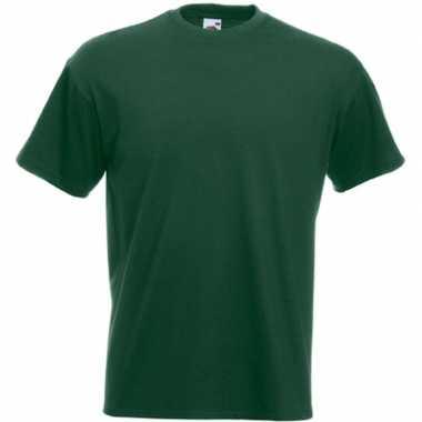 Basic donker groen t shirt heren