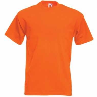 Basic oranje t shirt heren