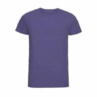 Basic ronde hals t shirt vintage washed paars heren