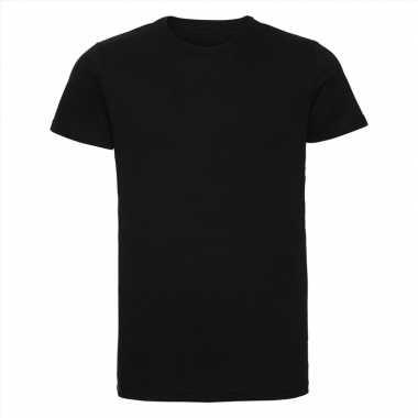 Basic ronde hals t shirt vintage washed zwart heren