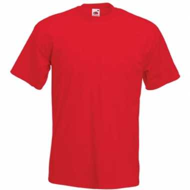 Basic rood t shirt heren