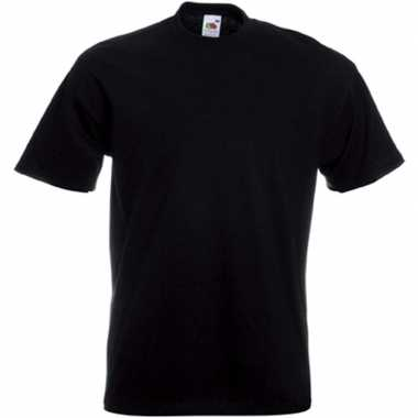 Basic zwart t shirt heren