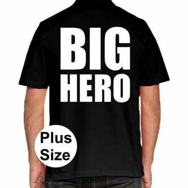 Big hero grote maten poloshirt zwart heren