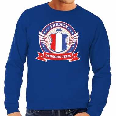 Blauw france drinking team sweater heren shirt