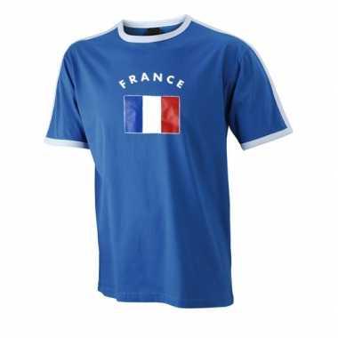 Blauw heren shirt frankrijk