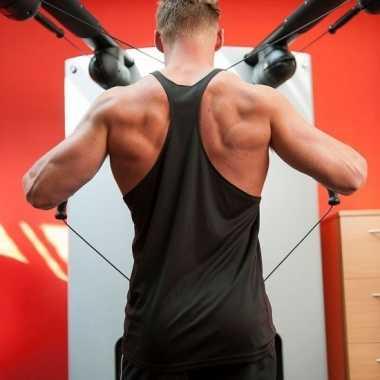 Bodybuilders heren t shirt zwart
