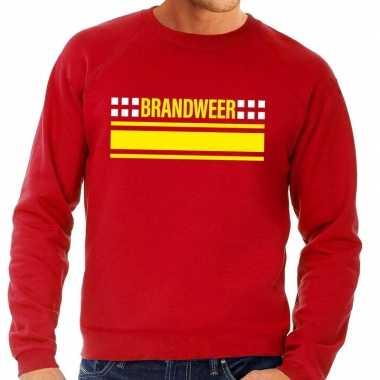 Brandweer logo sweater rood heren shirt