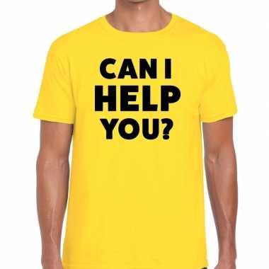 Can i help you beurs/evenementen t shirt geel heren