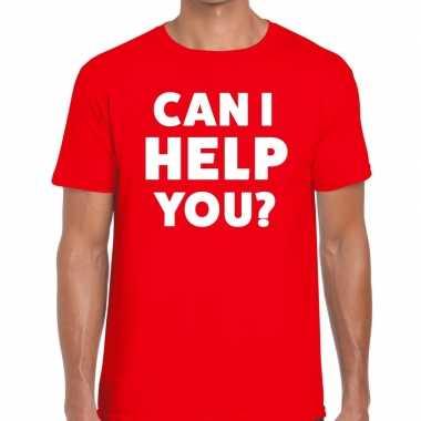 Can i help you beurs/evenementen t shirt rood heren