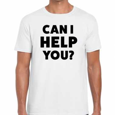Can i help you beurs/evenementen t shirt wit heren