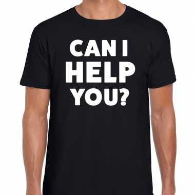 Can i help you beurs/evenementen t shirt zwart heren
