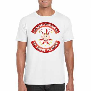 Carnavalsvereniging harde plasser brabant heren t-shirt wit