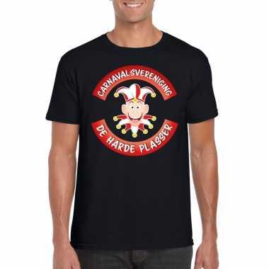 Carnavalsvereniging harde plasser brabant heren t-shirt zwart