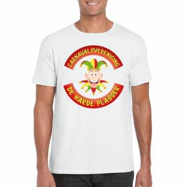 Carnavalsvereniging harde plasser limburg heren t shirt wit