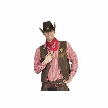Cowboy blouse rood heren shirt