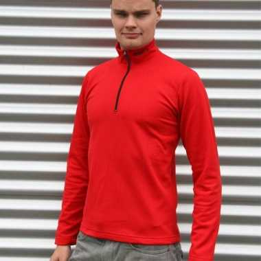 Craft thermo poloshirt rood heren