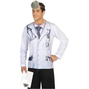 Dokter verkleed shirt heren