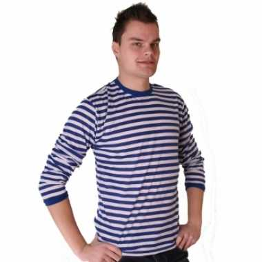 Dorus trui blauw wit heren shirt