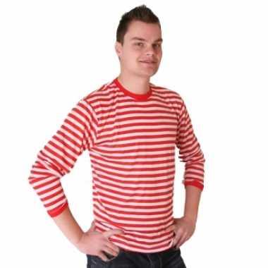 Dorus trui rood wit heren shirt