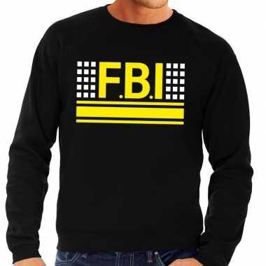 Fbi logo sweater zwart heren shirt