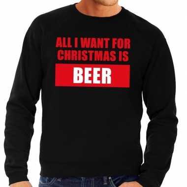 Foute kersttrui christmas beer zwart heren shirt