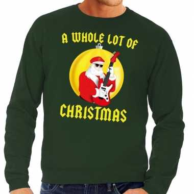 Foute kersttrui groen a whole lot of christmas heren shirt