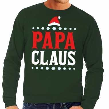 Foute kersttrui groen papa claus heren shirt