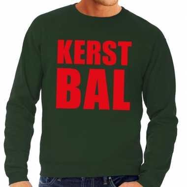 Foute kersttrui kerst bal groen heren shirt