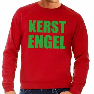 Foute kersttrui kerst engel rood heren shirt