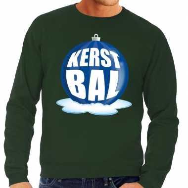 Foute kersttrui kerstbal blauw groene sweater heren shirt