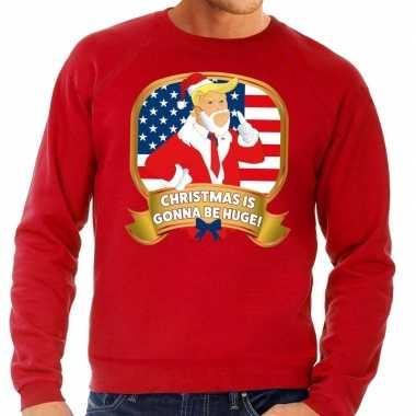 Foute kersttrui rood christmas is gonne be huge heren shirt