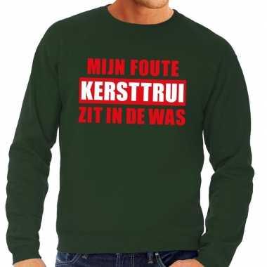 Foute kersttrui was groen heren shirt