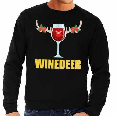 Foute kersttrui winedeer zwart heren shirt