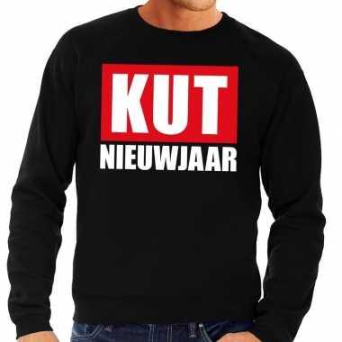 Foute oud nieuw trui / sweater kut nieuwjaar zwart heren shirt