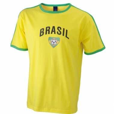 Geel voetbalshirt brazilie heren