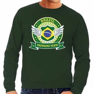 Groen brazil drinking team sweater heren shirt