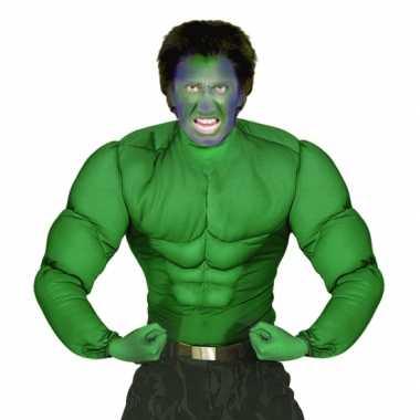 Groen spierballen shirt heren