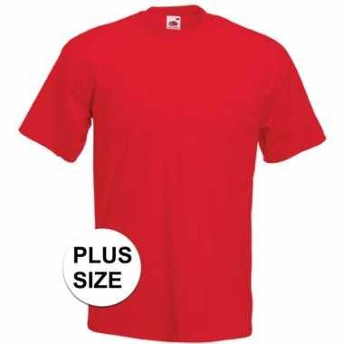 Grote maten basic rood t shirt heren