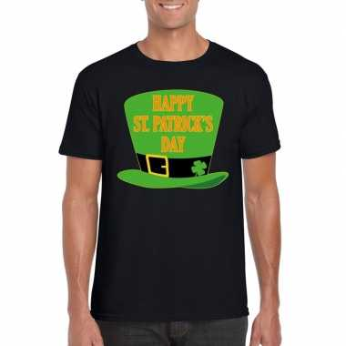 Happy st. patricksday t shirt zwart heren