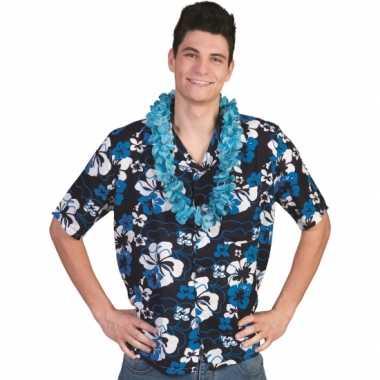 Heren  Blauwe Hawaii blouse Honolulu shirt