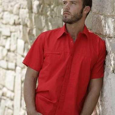 Heren  Casual shirt korte mouw