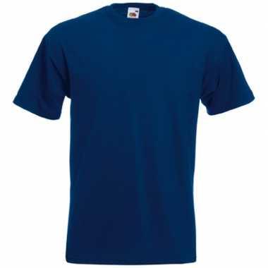 Heren fruit of the loom t shirt navy