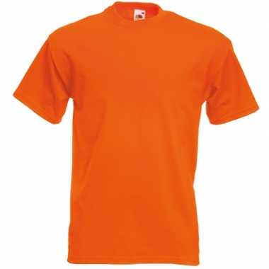 Heren fruit of the loom t shirt oranje