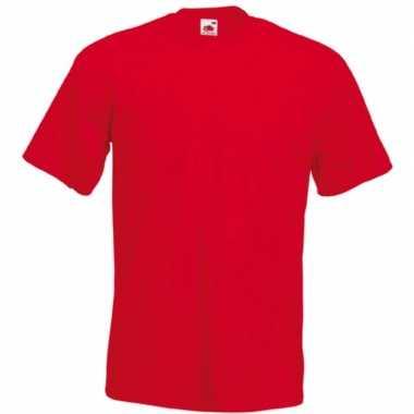 Heren fruit of the loom t shirt rood