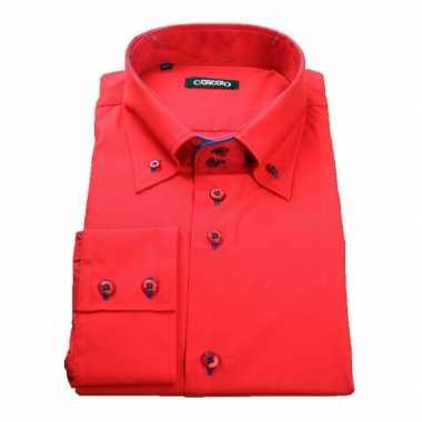 schoeisel beste prijzen gedetailleerde foto's Heren giovanni capraro overhemd rood shirt