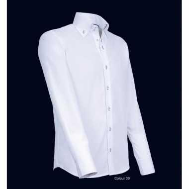 Heren Overhemd Wit.Heren Giovanni Capraro Overhemd Wit Shirt T Shirt Heren Nl
